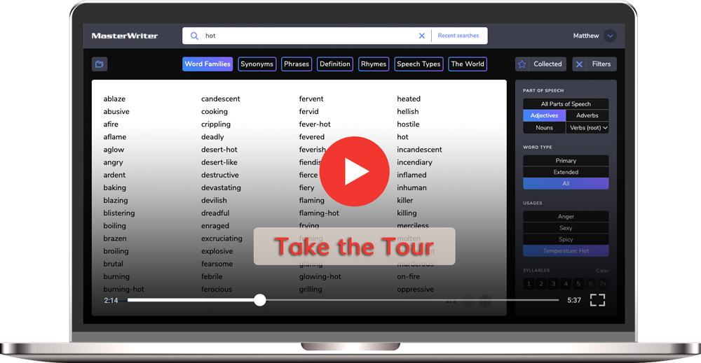 MasterWriter Creative Writing Software Take the Tour